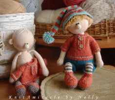Doll Knitting Pattern Martin the House Elf par KnitAmiracle