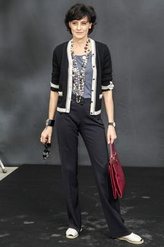 Ines de la Fressange at Chanel, Fall 2013