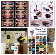 Younique Color Pigments have more uses than just those beautiful eyes.  Mix with Rose water and use as eye line, Mix 1/4 tsp in clear polish to make your own nail polish and chalk your hair that easily washes out.