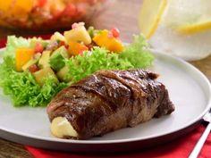Receta de Filete Relleno de Queso Cubierto con Tocino