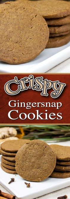 Crispy Gingersnap Cookies - This gingersnap recipe makes the perfect crispy, crunchy, spicy cookie. Full of ginger, molasses cinnamon, nutmeg and black pepper. Yes, black pepper!