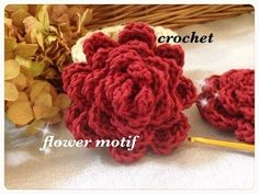かぎ編み・バラの編み方(1)diy crochet rose tutorial - YouTube