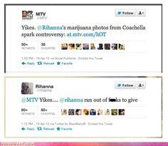 Well played, Rihanna ...