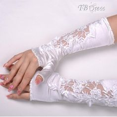 Delicate Lace Gloves | Delicate Lace Translucent Long Fingerless Wedding Gloves Item Code ...