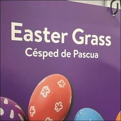 Easter Grass Multilingual Aisle Signage – Fixtures Close Up Retail Fixtures, Store Fixtures, Egg Art, Easter Eggs, Signage, Grass, Easter, Herb, Grasses