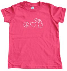 Kids can be Smitten with the Mitten too! Printed on American-made shirts - Solid colors are Cotton, Neon colors are Polyester/Cotton. Our kids' shirts tend to fit small. Kids Shirts, T Shirts For Women, Selling Design, Crew Shirt, American Made, Peace And Love, American Apparel, Michigan, Hoodies