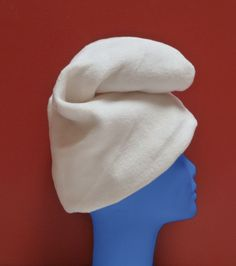 How to make a smurf hat. Change color to red and you've got a gnome hat.