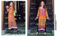 Design # 01A From Zanisha Embroidered Kurti Collection 2015 By Al Zohaib