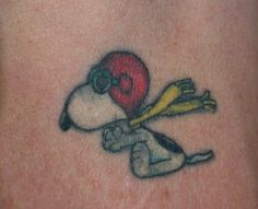 Daddy's Snoopy tattoo from navy that we had touched up
