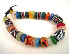 4 Earring Pairs African Powder Glass Beads 8 by EthnicBeadShop, $6.95