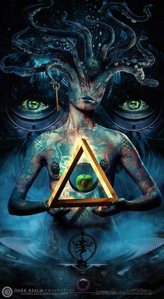 Iphone wallpaper The Impossible Heart by Oliver Wetter Qwallpaper Psychedelic Art, Dark Fantasy Art, Dark Art, Arte Pink Floyd, Esoteric Art, Psy Art, Alien Art, Arte Horror, Visionary Art
