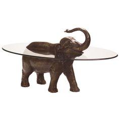elephant taking a bath table Elephant Table, Elephant Home Decor, Unique Living Room Furniture, Cool Furniture, Egyptian Home Decor, Teak Rocking Chair, Decor Pad, Quirky Decor, Oriental Furniture