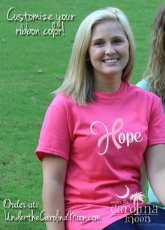 Our customizable Hope Ribbon shirts allow you to show your support for the cancer fighter in your life. #UndertheCarolinaMoon