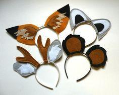diy woodland animal headband ears - Google Search