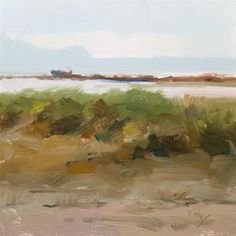 """Daily Paintworks - """"East Jetty"""" - Original Fine Art for Sale - © Randall Cogburn"""