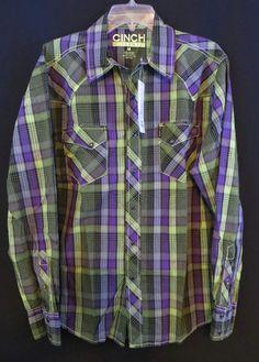 a3c8c0c13d1 Cinch Plaids   Checks Regular Size M Casual Shirts for Men