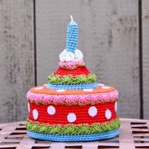 Happy birthday cake made by Ak at Home! #freepattern #crochet #gratis #patroon #haken #haakpatroon