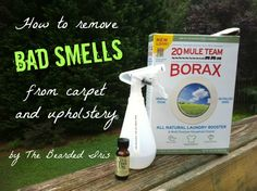 how to remove smells from carpets and upholstery and other things - natural DIY air freshener and pee stains be gone