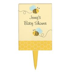 Shop Bumble Bee Cake Topper Cupcake Topper created by PoshPartyPrints. Bumble Bee Cake, Bee Cakes, Cake Picks, Party Themes For Boys, Bee Party, Personalized Cake Toppers, Cupcake Toppers, Birthday Parties, Baby Shower