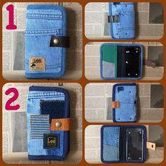Best 12 Jeans porta celular on instaview. Jean Crafts, Denim Crafts, Diy Wallet Phone Case, Homemade Phone Cases, Denim Purse, Denim Jeans, Crochet Mobile, Couture, Purses