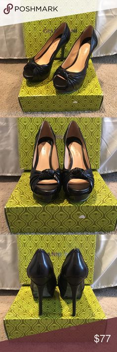 🆕LISTING- Antonio Melani Black Platform Heels New. Only worn to try on. So comfortable and easy to walk in. Still have that great leather smell 😉 ANTONIO MELANI Shoes Heels