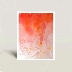 Watercolor Print of an Abstract Painting by WatercolorByMuren, $32.00