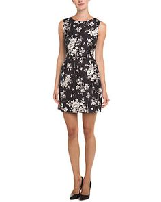 RED Valentino Black & Beige Floral Dress