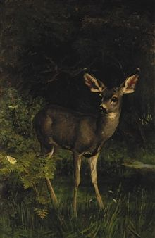 Forest — Elizabeth Strong - Deer in the Woods Forest And Wildlife, Wildlife Art, Woodlands Cottage, Art Corner, Walk In The Woods, Woodland Creatures, Woodland Animals, Paris, Drawing People