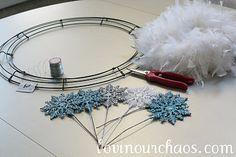 Winter Feather Wreath -