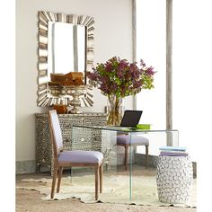 Wisteria - Furniture - Shop by Category - Desks - Glass Desk Thumbnail 2