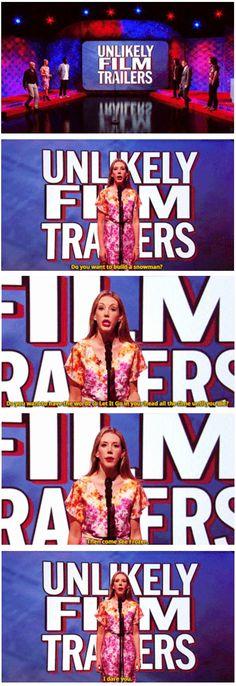 Unlikely film trailers | Katherine Ryan | Mock the Week