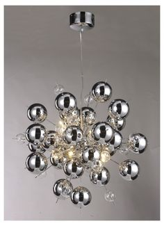 Chrome bauble 10 light chandelier, stunning and unique £249.99