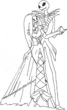 image result for nightmare before christmas coloring pages