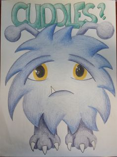 Cuddles Monster Drawing
