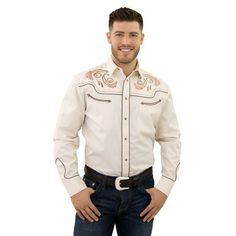 Starr Heritage Embroidered Long Sleeve Snap Shirt, , 558787663903279189