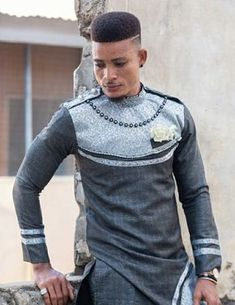 Latest Nigerian men traditional and native wears styles and designs for Naija men to rock. African Wear Styles For Men, African Shirts For Men, Ankara Styles For Men, African Dresses Men, African Attire For Men, African Clothing For Men, Big Men Fashion, Weird Fashion, Men's Fashion