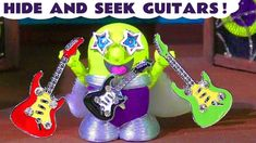 Funny Funlings learn colors with Rockstar Funlings colored guitars and Thomas The Train. Rockstar Funling has lost his guitars, so the funny Funlings must le.