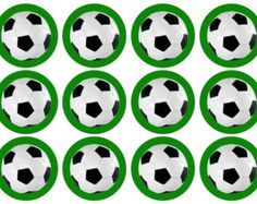 Printed with edible ink on an edible icing sheet Precut circles, approx diameter A wonderful way to add something extra to your football Soccer Birthday Parties, Soccer Party, Football Themes, Football Soccer, Soccer Cupcakes, Football Birthday Cake, Cupcake Toppers Free, Cupcake Party, Party Printables
