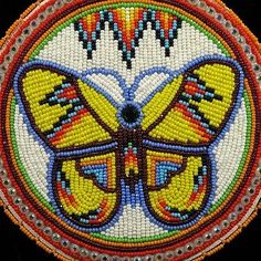 Beaded-Butterfly-Necklace-New-Handmade-Native-American-Indian-Beadwork