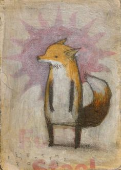 Upright Fox, Standing Fox - by Seth Fitts