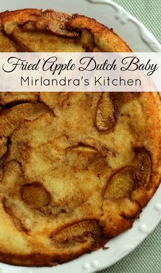 This delicious Fried Apple Dutch Baby is easy to make and full of yummy cinnamon and apples. Everybody will love having a slice for breakfast. Brunch Recipes, Breakfast Recipes, Dessert Recipes, Breakfast Ideas, Breakfast Pastries, Fruit Dessert, Brunch Dishes, Breakfast Healthy, Brunch Ideas