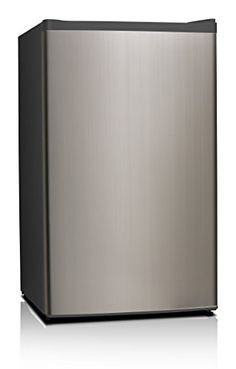 Midea WHS-121LSS1 Compact Single Reversible Door Refrigerator and Freezer, 3.3 Cubic Feet, Stainless Steel * You can get additional details at the image link.