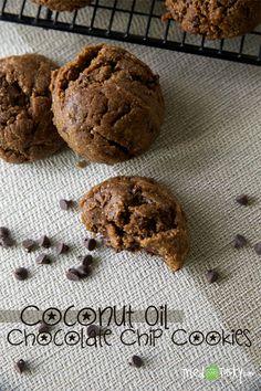 Coconut Oil Chocolate Chip Cookies // TriedandTasty