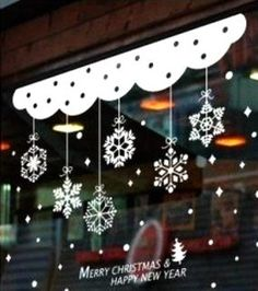 Compare prices on Christmas Window Curtains – Shop best value Christmas Window Curtains with international sellers on AliExpress Christmas Window Decorations, Christmas Window Display, Christmas Windows, Christmas Snowflakes, Christmas Wreaths, Christmas Ornaments, All Things Christmas, Christmas Time, Merry Christmas