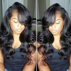 Body wave! 8-34 inch lace wig, lace frontal, lace closure in style!!  Virgin hair. http://www.shorthaircutsforblackwomen.com/best-weave-for-natural-hair/