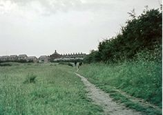 Radcliffe, Cams Acre 1971 St Philip's Mission church in background.