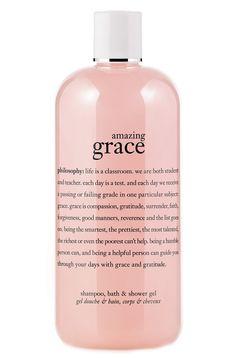 On the list of favorites! Philosophy Amazing Grace shampoo, bath & shower gel.