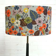 Lampshade in Nasturtium print, designed for Winter's Moon by Brie Harrison