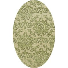 Dalyn Rug Co. Bella Green Area Rug Rug Size: Oval 9' x 12'