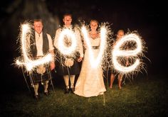"#OurWedding ""Love"" Sparklers #LoveIsInTheAir! #Weddingbells english-country-garden-wedding"